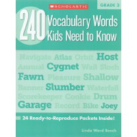 【三年级】240 Vocabulary Words Kids Need to Know Grade 3 学乐词汇练习册