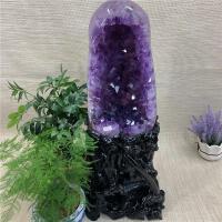 乌拉圭紫晶洞簇 办公摆件天然紫水晶块聚宝盆 原石矿消磁直销 049款抛光玛瑙紫晶洞总重15.9kg 总高60c