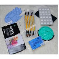 水粉工具套装 马利水粉颜料18/24色 画笔 调色盒等7件 常用水粉工具汇总 省事省心