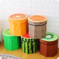 缤纷屋绒布水果凳储物凳创意收纳凳玩具收纳箱小凳子换鞋凳储物箱