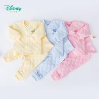 迪士尼Disney童装 男女宝宝三层暖棉内衣套装冬季新品保暖防寒2件套加厚 194T977