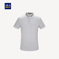 HLA/海澜之家丝光棉舒适短袖T恤2018夏季新品别致短袖polo男
