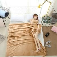 ???加厚大红色毛毯珊瑚绒法莱绒云貂绒床单双人夏季空调毯结婚庆盖毯