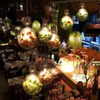 胡桃里吊灯主题音乐餐厅吊灯酒馆植物灯泡吊灯酒吧漫咖啡装饰吊灯