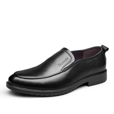 意尔康鞋子商务休闲牛皮革舒适套脚一脚蹬懒人驾车鞋男鞋男士休闲鞋英伦皮鞋平底鞋