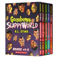 鸡皮疙瘩第二季1-5册盒装 英文原版 Goosebumps Slappyworld 惊悚恐怖小说 英文版 儿童英语畅销