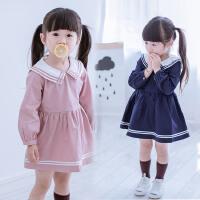 女童秋装连衣裙新款童装儿童学院风长袖裙宝宝小女孩秋季裙子