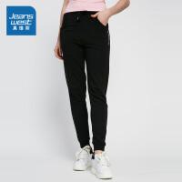 [尾品汇到手价:69.9元]真维斯九分休闲裤女2018夏装新款女装纯棉修身哈伦束脚运动裤