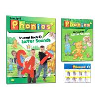 新版super phonics +1级别原装进口少儿英语启蒙自然拼读初级入门英语字母拼写发音自然拼读教材培训机构教材赠送
