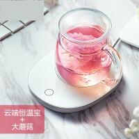 【支持礼品卡】物生物玻璃杯办公室茶杯水杯花茶杯套装杯子带盖男女士加厚带过滤jh3