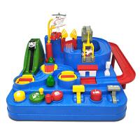 汽车大冒险小火车轨道车停车场玩具套装儿童男孩闯关 抖音 官方标配