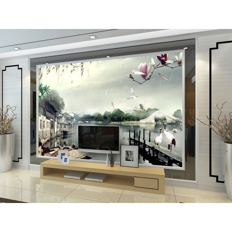 3墙纸壁画电视背景墙客厅沙发背景墙壁画无纺布墙纸大型壁画 发货周期:一般在付款后2-90天左右发货,具体发货时间请以与客服协商的时间为准