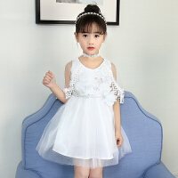 新款夏装儿童韩版休闲裙子女童公主裙小女孩披纱连衣裙潮
