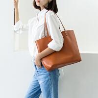 包包女2019新款时尚单肩大包包头层牛皮简约软皮大容量包