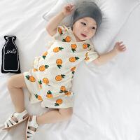 婴儿套装夏装新生儿衣服纯棉和尚服薄款睡觉幼童宝宝两件套潮