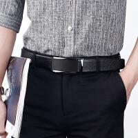 自动扣头层牛皮男士皮带加长纯皮商务休闲腰带真皮西裤3.5cm