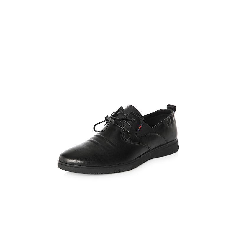 Belle/百丽2018春季新品专柜同款牛皮革男休闲鞋5PJ01AM8