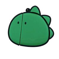 ins风卡通纯色抹茶绿大脸恐龙保护套二代蓝牙耳机盒潮 大脸小眼恐龙