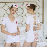 情趣内衣超级性感透视紧身包臀护士装极度诱惑露背激情套装制服SM