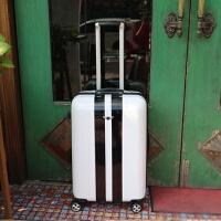 韩版个性行李箱男24寸潮复古拉杆箱万向轮女登机箱时尚旅行箱皮箱