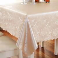 餐桌布防水桌垫茶几桌布布艺防烫防油免洗长方形欧式酒店圆桌台布