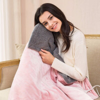 电热毯办公室宿舍护膝毯加热坐垫调温发热暖身暖腿取暖神器