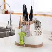 多功能家用插放厨房用品一体置物架菜刀架刀座筷笼收纳筷筒