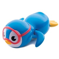 游泳企鹅儿童洗澡玩具婴儿宝宝戏水玩具浴室 蓝色企鹅