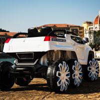 儿童电动车四轮驱动遥控摇摆越野车宝宝汽车双人玩具车可坐人