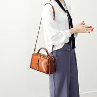 手提包小包包女新款韩版时尚女包大气百搭小方包单肩包斜挎包 棕色 少量现货,