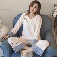 珊瑚绒睡衣女冬季保暖可爱秋天法兰绒家居服套装