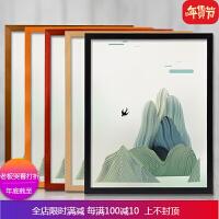 实木相框挂墙装饰16-30寸36寸8k4K开A3定做拼图广告海报裱画框A4 自店营年货
