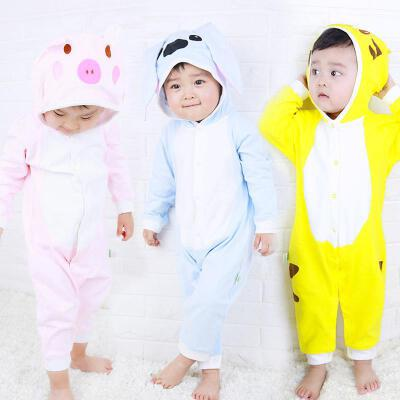 【139元4件到手价:34.7元】歌歌宝贝宝宝连体衣春秋婴儿连帽外出服动物哈衣