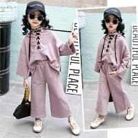 女童春装洋气运动套装新款韩版儿童阔腿裤套装女时尚两件套潮