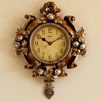 大气欧式挂钟客厅创意装饰钟表个性摆钟家用静音石英钟现代潮流钟 DH060KY 20英寸