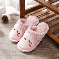 过年穿的冬天儿童穿的拖鞋女童秋冬可爱卡通软底男童家居室内牛皮宝宝棉拖鞋