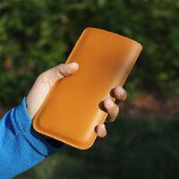 iphone Xs max牛皮直插套手机壳苹果X/8/6s/7plus皮套 保护套 X/XS加大版 真皮黑色