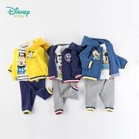 【3折价:139.2】迪士尼Disney童装 男女童萌趣卡通套装 米老鼠印花连帽外套+纯棉T恤+简约休闲裤3件套193