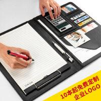 A4多功能资料夹文件夹经理夹销售夹皮质签约本垫板商务文件夹板