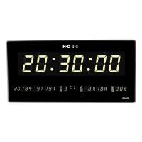 门帘窗帘屏风宏创 万年历新款薄款电子钟日历挂钟客厅电子表静音夜光报时 226BG 18英寸(直径45.5厘米)