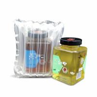 2斤蜂蜜气柱袋水果罐头瓶易碎品充气防摔防震快递缓冲包装充气柱