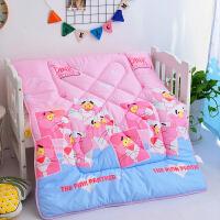 儿童卡通幼儿园秋冬被加厚婴儿床宝宝午睡丝棉冬季小被子太空被芯 粉红色 粉红豹
