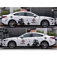 K2K5帝豪车身腰线 新赛欧福克斯汽车改装整车拉花 全车贴纸