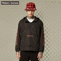 【全场2件2.5折,到手价:92.3】美特斯邦威夹克男秋装新款男潮流连帽套头夹克学生运动外套