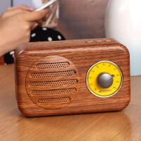 蓝牙音箱 T1无线蓝牙音箱小音响重低音收音机插卡手机复古迷你家用户外便携式智能语音提示电脑播 官方标配