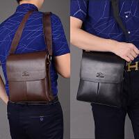 男包单肩包男士斜挎包男休闲包竖款男式翻盖背包商务公文皮包