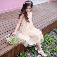 女童夏装连衣裙新款韩版夏季大童儿童装洋气裙子蓬蓬纱公主裙