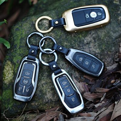 于福特锐界钥匙包新蒙迪欧翼虎金牛座探险者钥匙套扣壳改装饰