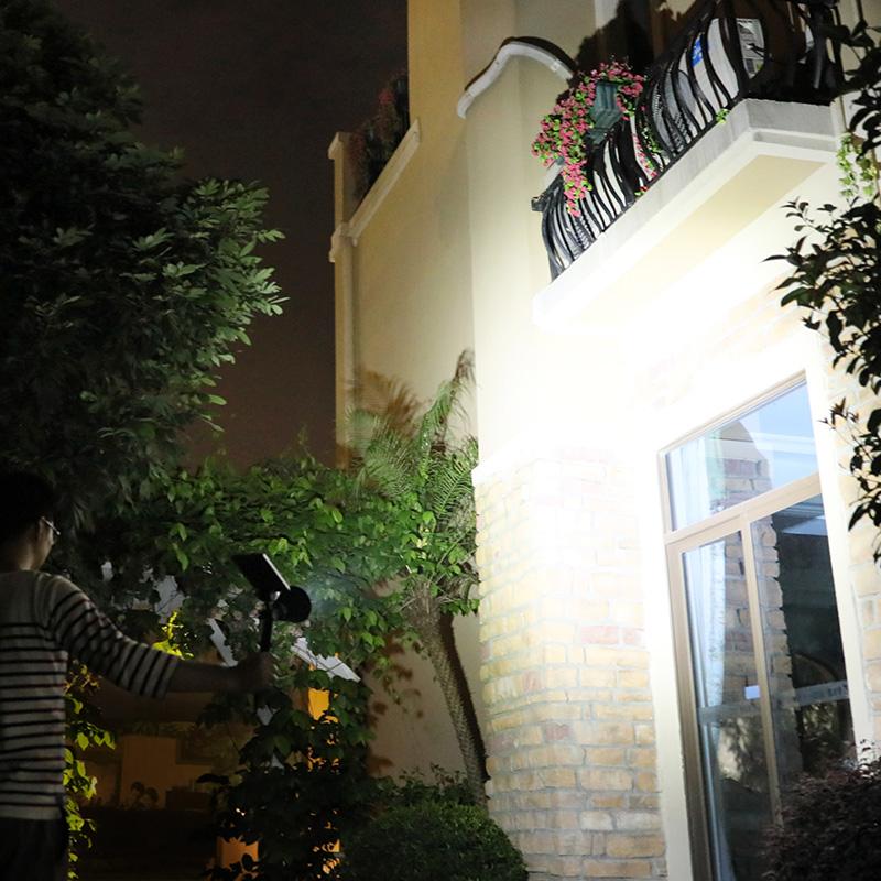 【支持礼品卡】太阳能灯 户外草坪灯庭院灯花园别墅射灯防水超亮地插灯家用路灯n8d 升级啦 炮筒LED比贴片,更亮,射程更远