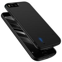小米MIX2背夹充电宝6/5s便携式电池小米5/5X/5C手机冲壳 小米6/5S 磨砂黑(软边 带USB接口)